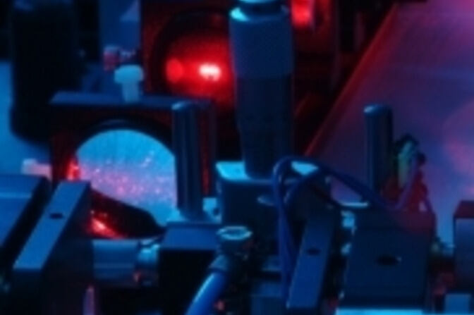Laser in operation